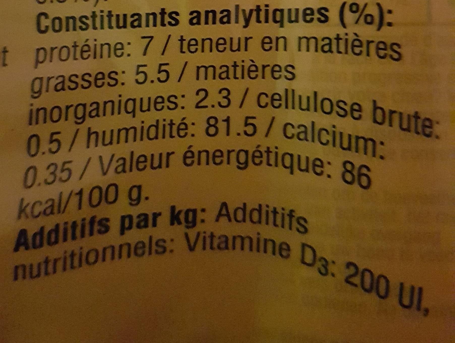 Aliment Pour Chien Morceaux Choisis Au Boeuf Pedigree, - Informations nutritionnelles
