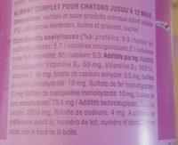 Whiskas Terr Chaton Volaille 400 G - Ingredients