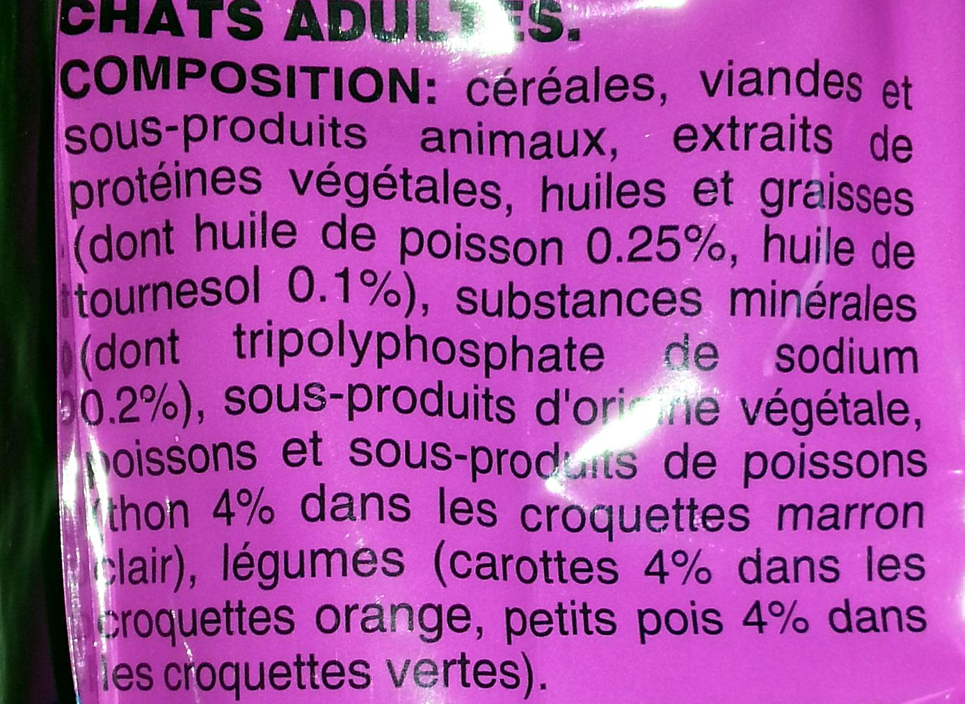 Whiskas au thon - Ingredients