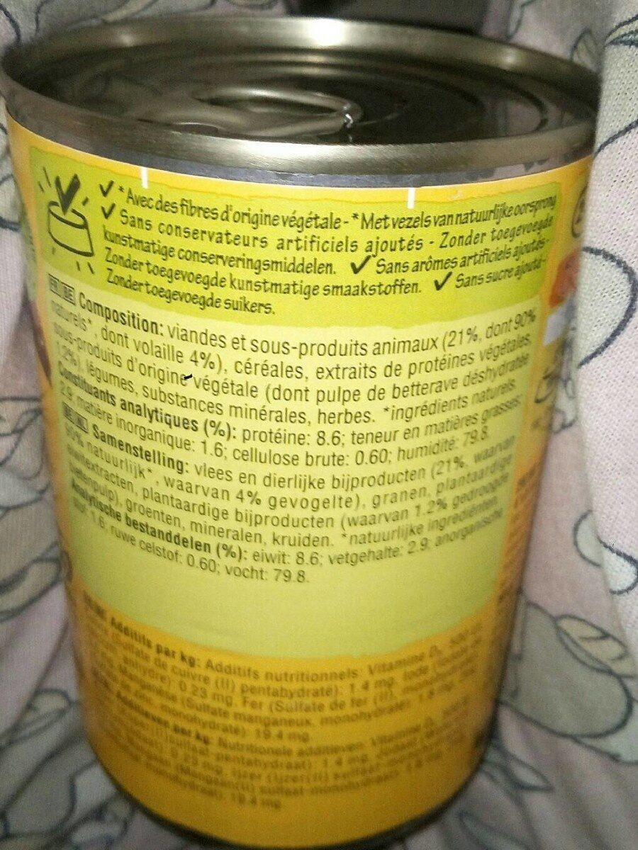 Aliment Pour Chien Mijotés Du Terroir 4 Variétés Pedigree, - Nutrition facts