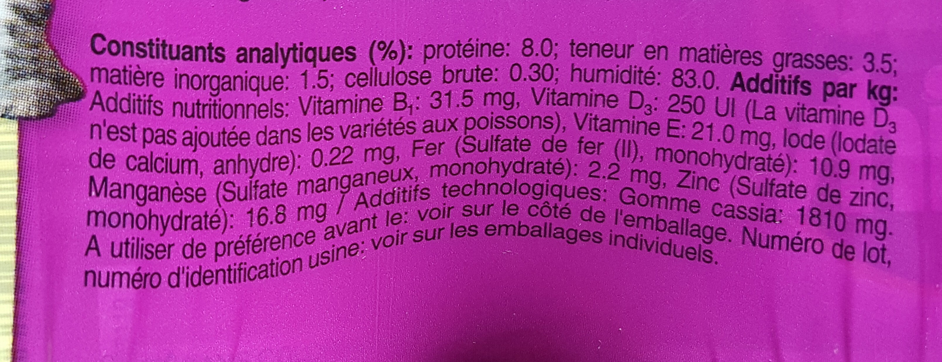 La Carte Mer et Campagne en Gelée - Ingredients - en