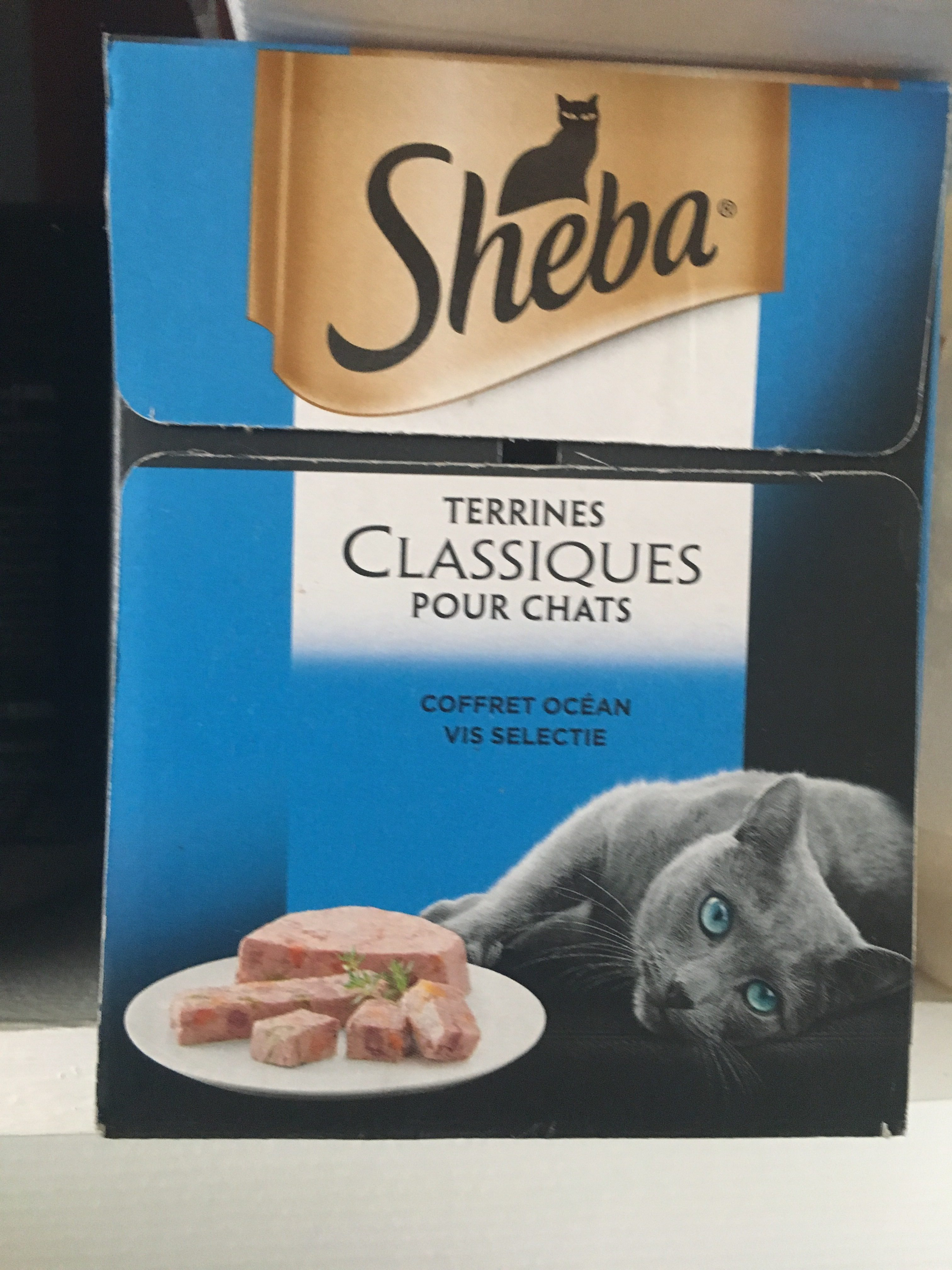 Terrines classiques pour chats coffret océan, au saumon, au cabillaud, au thon et légumes et aux poissons blanc carottes - Ingredients - fr
