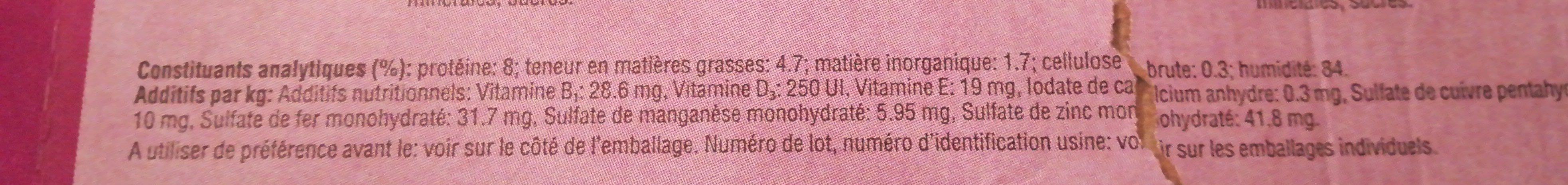 Whiskas Repas - Ingredients - fr