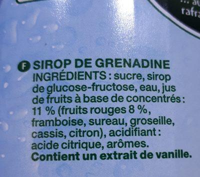 sirop grenadine - Ingredients