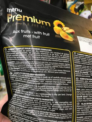 Menu Premium aux fruits Grandes Perruches - 4