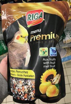 Menu Premium aux fruits Grandes Perruches - Product