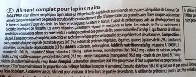 Graine pour lapin nain - Ingredients - fr