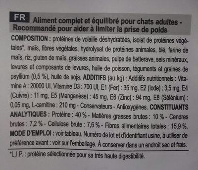 Light weight - Ingredients - fr