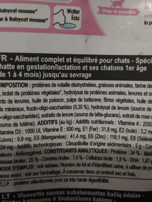 Royal Canin Mother & Babycat - Ingredients - fr