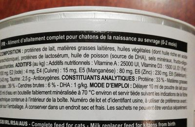 Royal Canin Babycat Milk - Ingredients