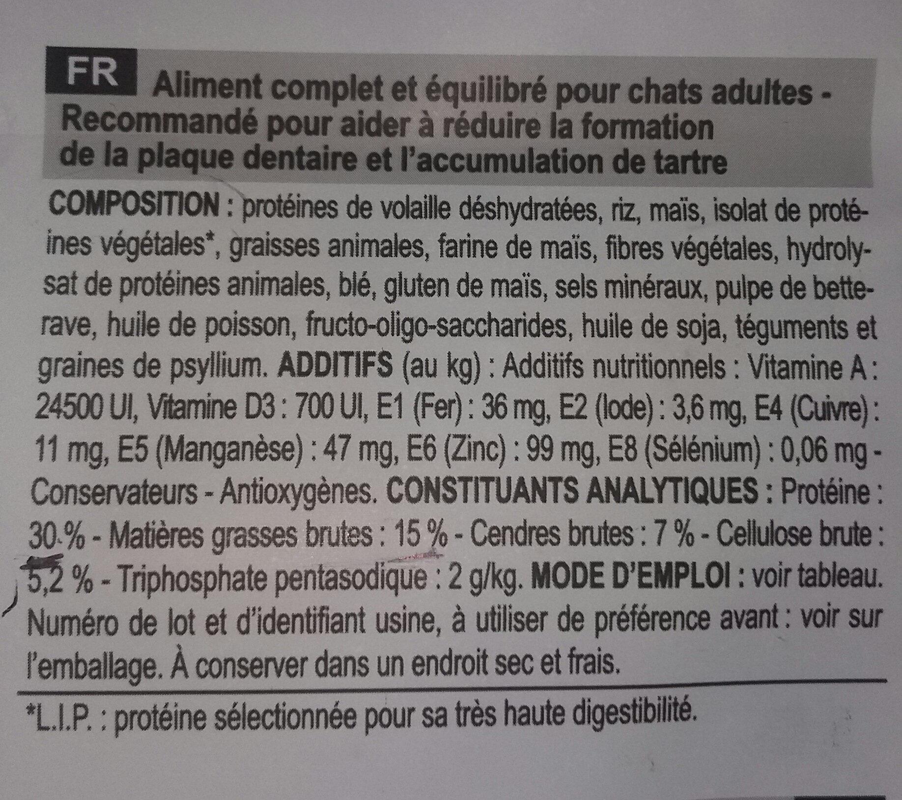 Oral Care - Ingredients - fr
