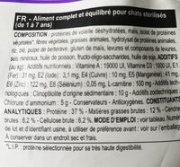 Royal Canin - Chat Stérilisé 37 400G - Nutrition facts - fr
