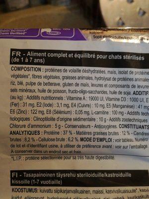 Royal Canin - Croquettes Sterilised 37 Pour Chat - 2KG - Ingrédients