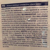 Royal Canin Vdiet Dog - Anallergenic An18 - 8 KG - Nutrition facts