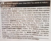 3KG - Croquettes Shih Tzu Adulte - Ingredients - fr