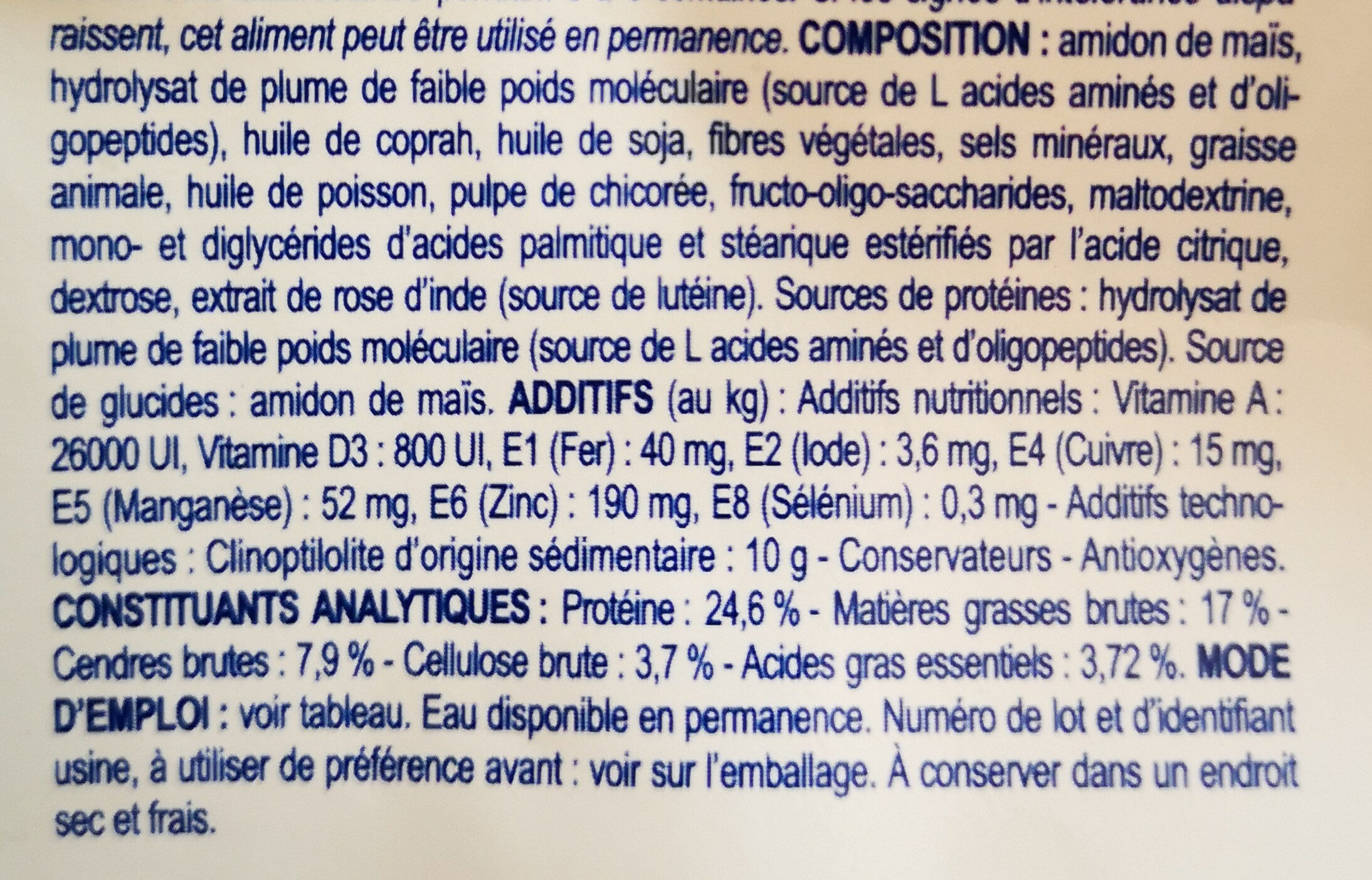 Royal Canin Anallergenic - Ingredients