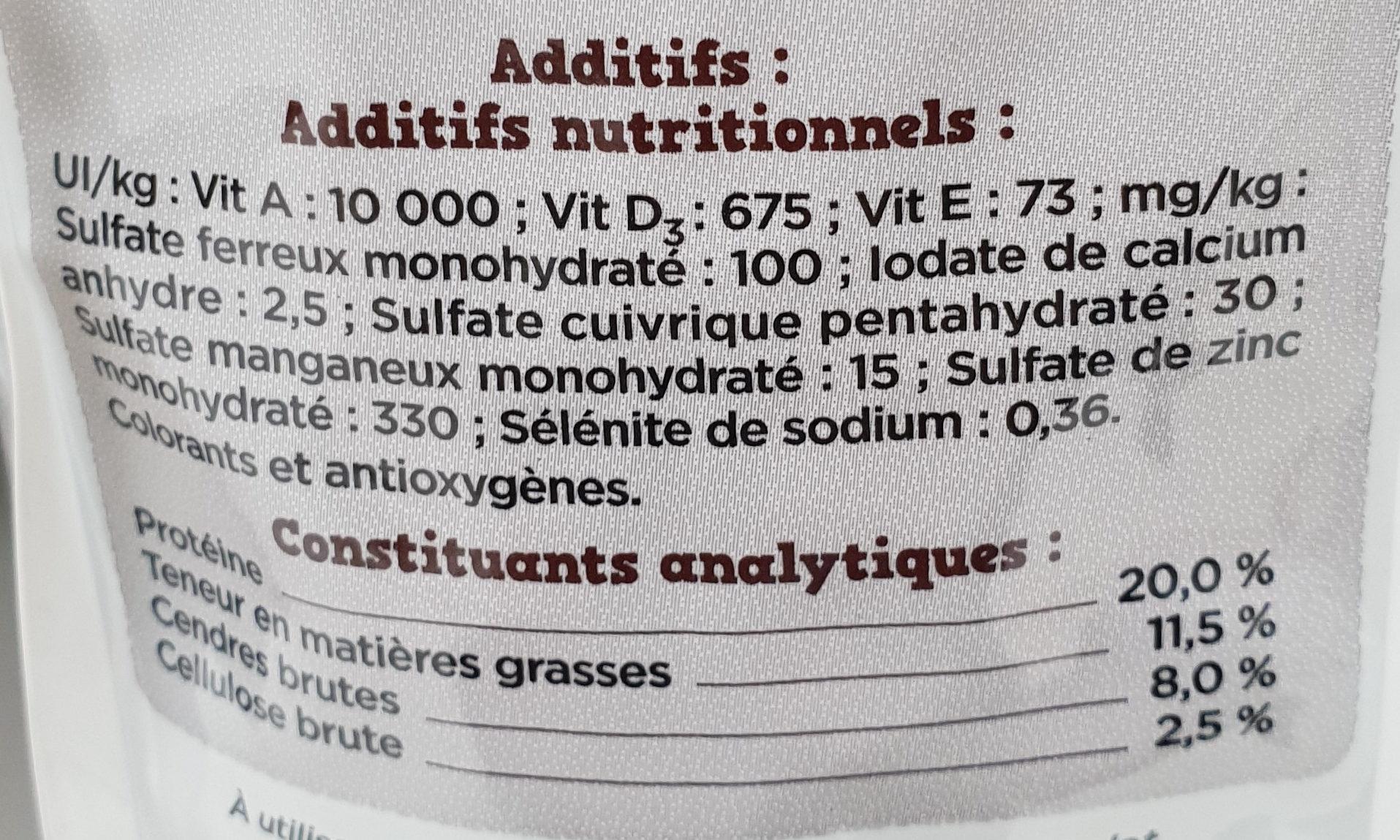 Fido croq Mix au Boeuf aux Céréales aux Légumes - Nutrition facts