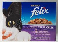 Emincés en gelée pour chats, boeuf, saumon, poulet et thon - Produit - fr