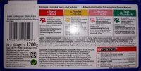 Emincés en gelée pour chats, boeuf, saumon, poulet et thon - Ingredients