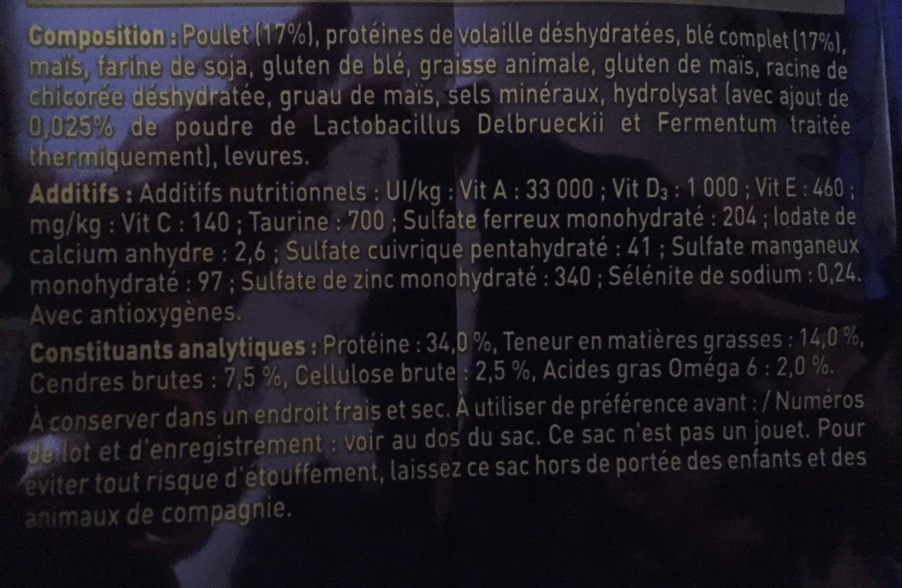 Purina One Adulte 3kg - Ingrédients
