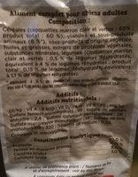 Croq'mix Adulte au Poulet, aux céréales et aux légumes - Ingredients