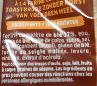 pain de mie - Ingredients