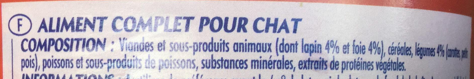 Mijoté en sauce au lapin, au foie et aux légumes - Ingredients - fr