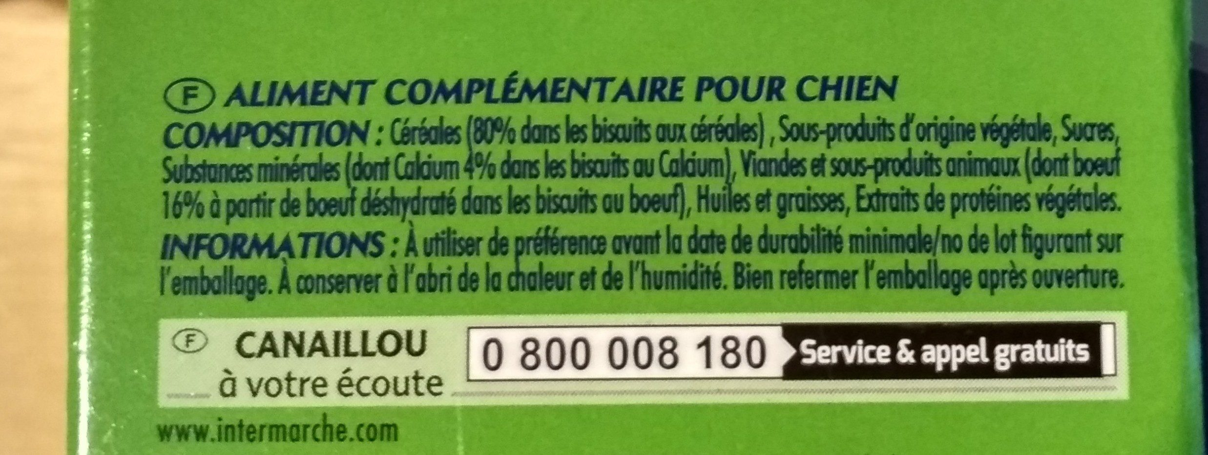 Canaillou Ticroc Bisc Os - Ingredients