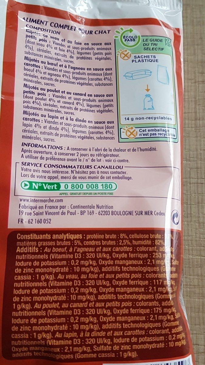 Canaillou Sachet Sauce - Ingredients