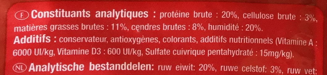 Les Croc Tendres - Nutrition facts