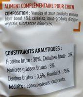 Snacks Au Boeuf - Ingredients