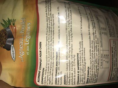 Netto Croquettes Agneau Legumes Carottes Poulets 1 - Ingredients