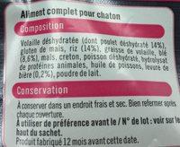 Croquettes Pour Chaton Premium U, - Ingredients - fr