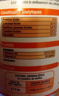 Terrine Boeuf 400 G - Ingredients