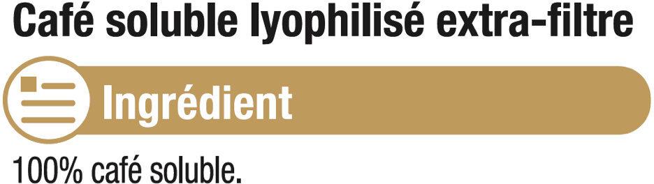 Café soluble lyophilisé extra filtre - Ingredients - fr