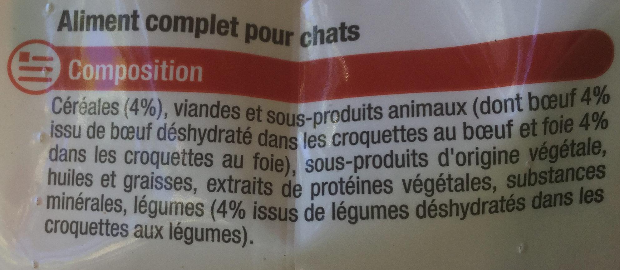 Multi croquettes au foie, au bœuf, aux légumes, aux céréales - Ingredients - fr