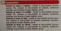 Les Emincés En Sauce - Ingredients