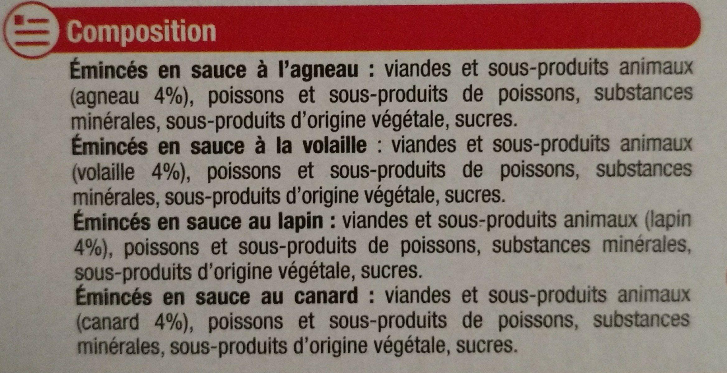 Les Emincés En Sauce - Ingredients - fr