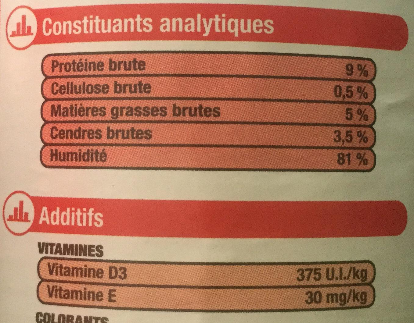 Les Terrines au Saumon - Informations nutritionnelles