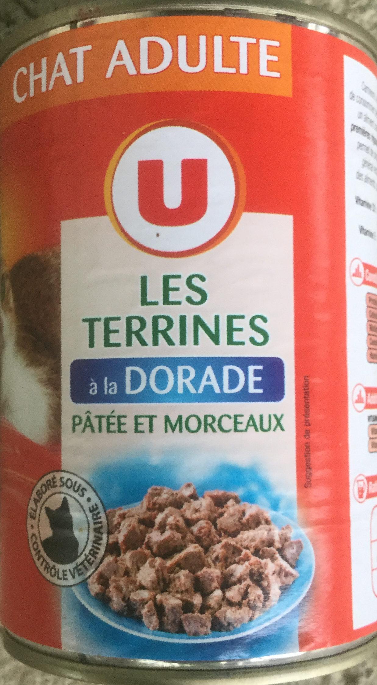 Les Terrines à la Dorade pâtée et morceaux - Produit
