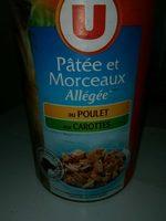 Pâte et morceaux allégé aux poulet et carottes - Product - fr