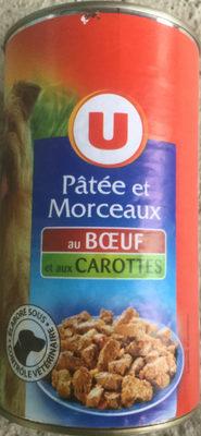 Pâtée et morceaux au bœuf et aux carottes - Product