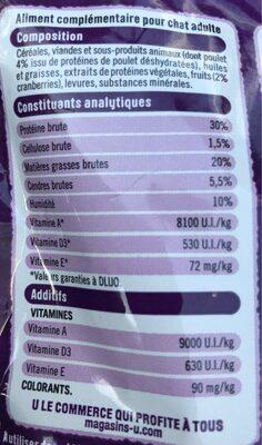 Friandises pour chat - Nutrition facts - fr