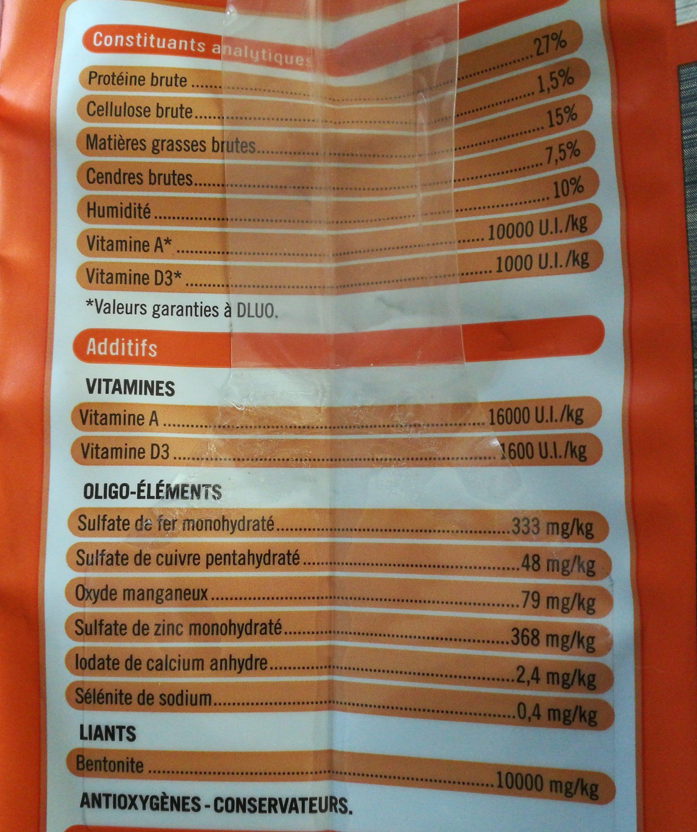 Vitalité - Nutrition facts - fr