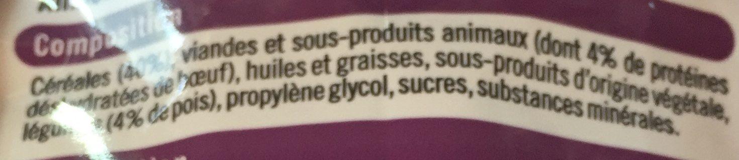 U- tendre croquette au bœuf , cereales et aux legumes - Ingredients - fr