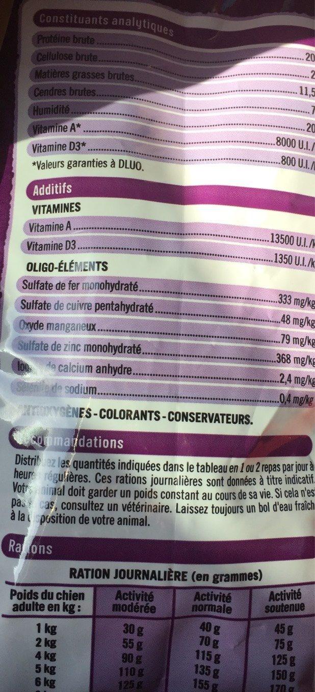 U- tendre croquette au bœuf , cereales et aux legumes - Nutrition facts - fr