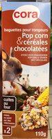 Baguettes pour rongeurs Pop Corn & Céréales chocolatées - Produit