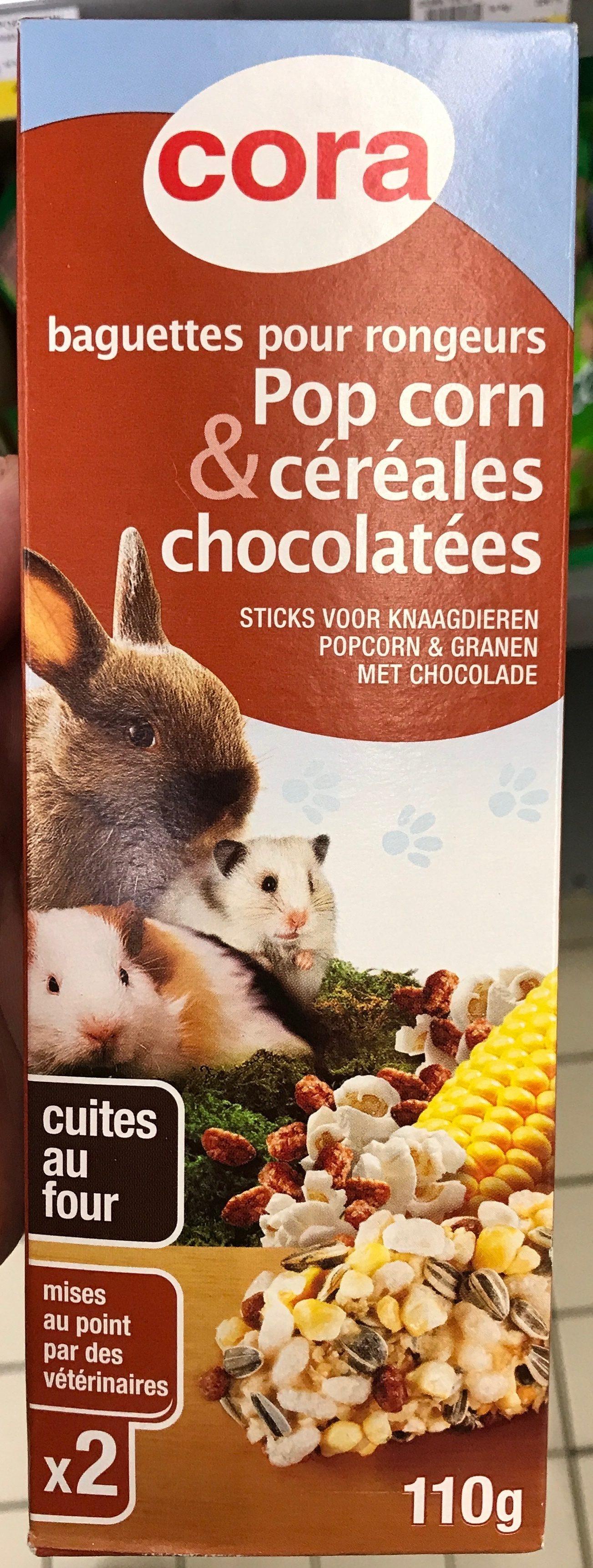 Baguettes pour rongeurs Pop Corn & Céréales chocolatées - Product