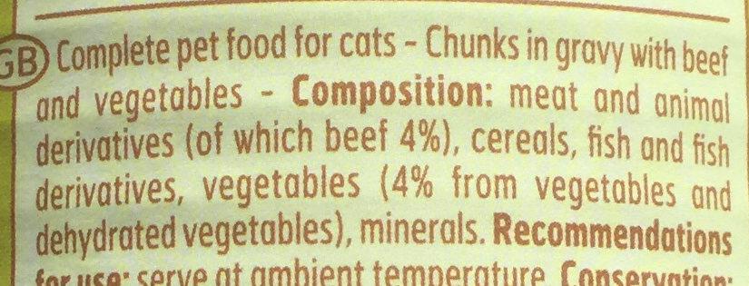 Bouchées en sauce bœuf et légumes - Ingredients