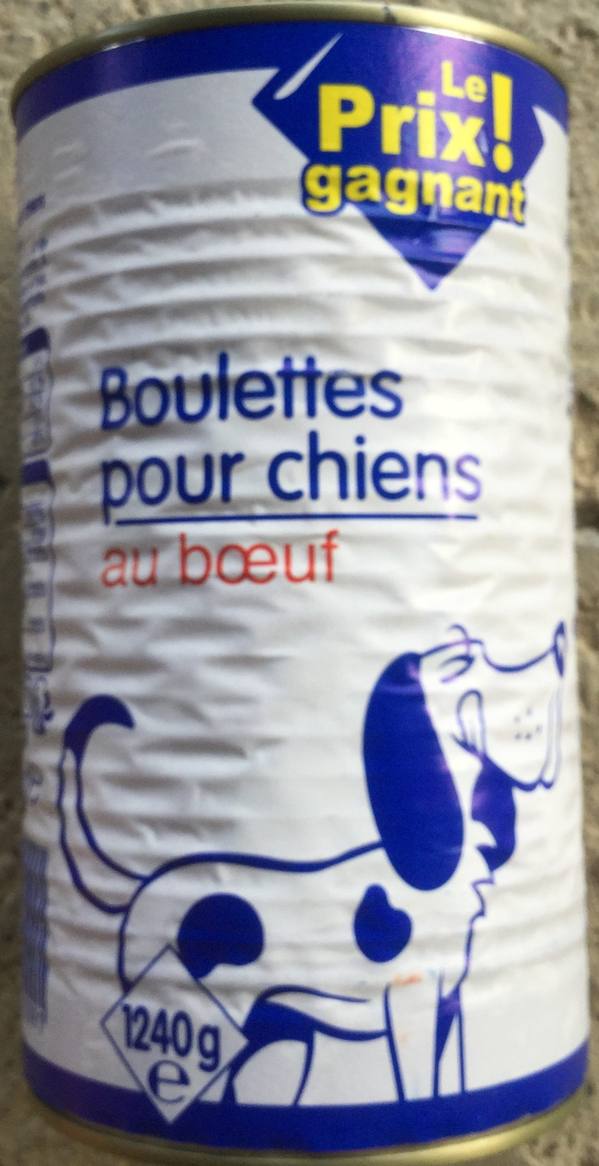 Boulettes pour chiens au bœuf  - Produit